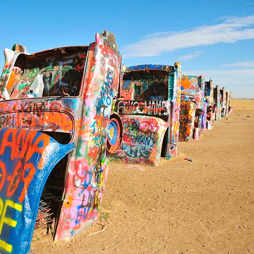 Cadillac Ranch: el auto como obra de arte